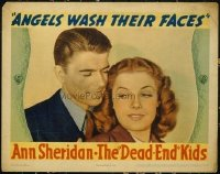 2110 ANGELS WASH THEIR FACES lobby card R1940s best Reagan close up!