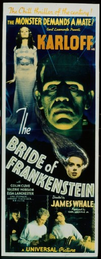167 BRIDE OF FRANKENSTEIN paperbacked insert