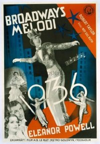 v417 BROADWAY MELODY OF 1936 linen Swedish '35 E. Powell
