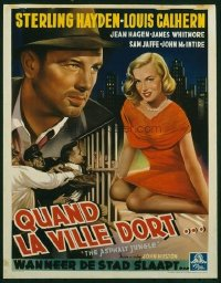 v183 ASPHALT JUNGLE  Belgian '50 John Huston, Monroe