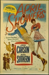 1507 APRIL SHOWERS one-sheet movie poster '48 Jack Carson, Ann Sothern