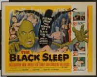 VHP7 393 BLACK SLEEP half-sheet movie poster '56 Bela Lugosi, Lon Chaney Jr.