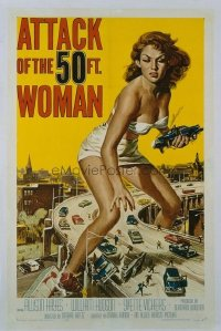 193 ATTACK OF THE 50 FT WOMAN ('58) linen 1sheet