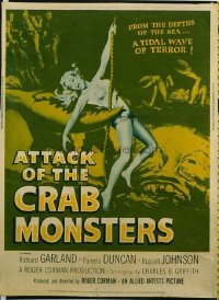 v157 ATTACK OF THE CRAB MONSTERS  30x40 '57 Roger Corman