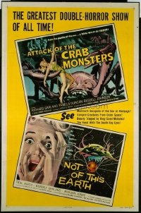 080 NOT OF THIS EARTH ('57)/ATTACK OF CRAB MONSTERS 1sheet
