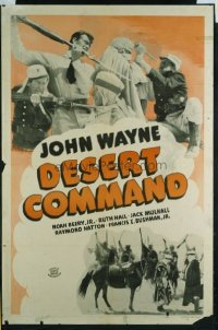 JW 232 DESERT COMMAND one-sheet movie poster '46 John Wayne fights with Arabs