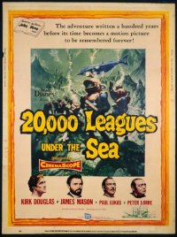 VHP7 069 20,000 LEAGUES UNDER THE SEA 30x40 movie poster '55 Disney