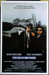 #407 BLUES BROTHERS one-sheet movie poster '80 John Belushi, Dan Aykroyd!