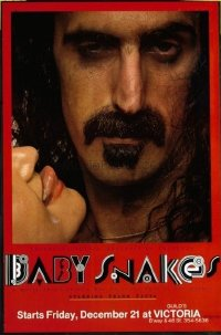 #403 BABY SNAKES one-sheet movie poster '79 great Frank Zappa close up!!