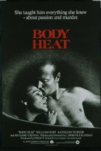 VHP7 566 BODY HEAT English one-sheet movie poster '81 Hurt, Kathleen Turner