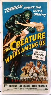 454 CREATURE WALKS AMONG US linen 3sh