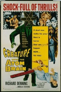 049 CREATURE WITH THE ATOM BRAIN 1sheet