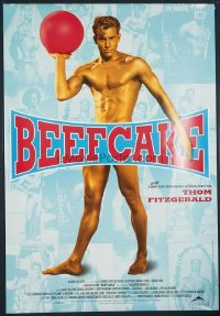 VHP7 590 BEEFCAKE arthouse one-sheet movie poster '99 Bob Mizer, male muscles!