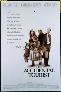 4601 ACCIDENTAL TOURIST one-sheet movie poster '88 Hurt, Turner