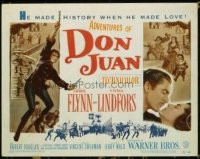 1104 ADVENTURES OF DON JUAN title lobby card '49 Errol Flynn, Lindfors