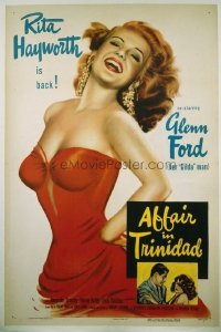 #109 AFFAIR IN TRINIDAD 1sh '52 Rita Hayworth