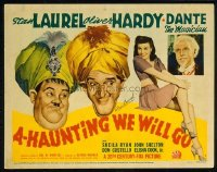200 A-HAUNTING WE WILL GO ('42) TC, personally signed Stan Laurel LC