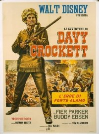 v124 DAVY CROCKETT, KING OF THE WILD FRONTIER linen Italian 1p R67