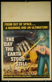 VHP7 253 DAY THE EARTH STOOD STILL window card movie poster '51 Rennie