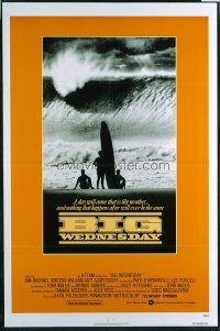 VHP7 546 BIG WEDNESDAY one-sheet movie poster '78 cult classic surfing flick!