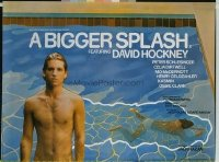 v107 BIGGER SPLASH  British quad '74 David Hockney, gay