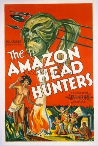 #145 AMAZON HEAD HUNTERS 1sheet '31 wild art!