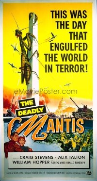 #046 DEADLY MANTIS 3sheet '57 classic sci-fi!