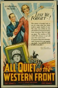 277 ALL QUIET ON THE WESTERN FRONT ('30) R34 1sheet