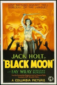 301 BLACK MOON ('34) paperbacked 1sheet