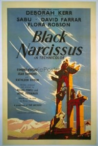 247 BLACK NARCISSUS linen English 1sh