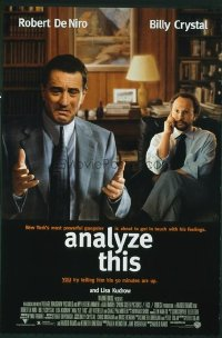 4605 ANALYZE THIS DS one-sheet movie poster '99 DeNiro, Billy Crystal
