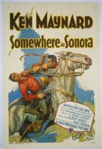 220 SOMEWHERE IN SONORA ('27) linen 1sheet