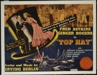 #148 TOP HAT half-sheet movie poster '35 Fred Astaire & Ginger Rogers!!