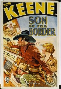 320 SON OF THE BORDER paperbacked 1sheet