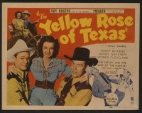 t378 YELLOW ROSE OF TEXAS title lobby card '44 Roy Rogers, Dale Evans