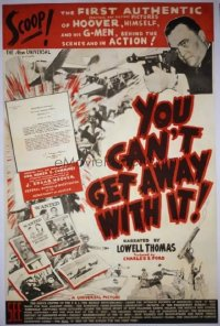 229 YOU CAN'T GET AWAY WITH IT ('36) linen 1sheet