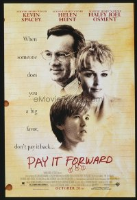 4672 PAY IT FORWARD advance one-sheet movie poster '00 Kevin Spacey, Osment