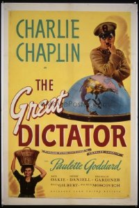 152 GREAT DICTATOR linenbacked 1sheet