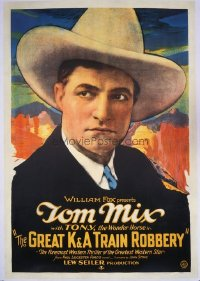 #228 GREAT K & A TRAIN ROBBERY 1sh26 Tom Mix