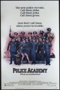 1582 POLICE ACADEMY one-sheet movie poster '84 Steve Guttenberg classic!