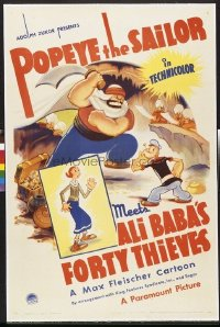 089 POPEYE THE SAILOR MEETS ALI BABA'S 40 THIEVES linen 1sheet
