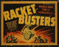 1301 RACKET BUSTERS title lobby card '38 Humphrey Bogart, cool image!