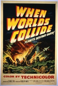 004 WHEN WORLDS COLLIDE signed by George Pal 1sheet