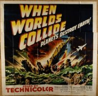 VHP7 375 WHEN WORLDS COLLIDE six-sheet movie poster '51 George Pal classic!