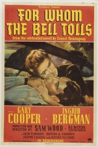 169 FOR WHOM THE BELL TOLLS linen 1sheet