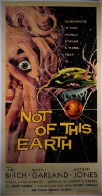 #043 NOT OF THIS EARTH 3sheet57 Roger Corman