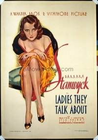 #285 LADIES THEY TALK ABOUT 1sheet33 Stanwyck