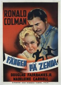 189 PRISONER OF ZENDA ('37) paperbacked Swedish