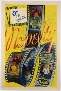 1048 ONE DAY STAND linenbacked one-sheet movie poster '30s Vitaphone Novelty!