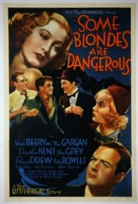 089 SOME BLONDES ARE DANGEROUS linen 1sheet